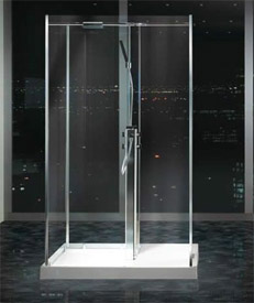 Matki Freestanding Walk In Four Sided Shower Enclosure UK Bathrooms