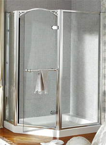 Wet Room Wall Panels >> Daryl Arcadia hinged pentagon shower enclosure - UK Bathrooms