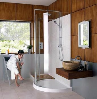 Matki 1700 Curved Walk In Shower Enclosure Uk Bathrooms