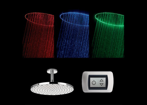 Crosswater Rio Spectrum Shower Head with LED Lighting