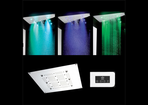 Crosswater Rio Square Shower Head with Light