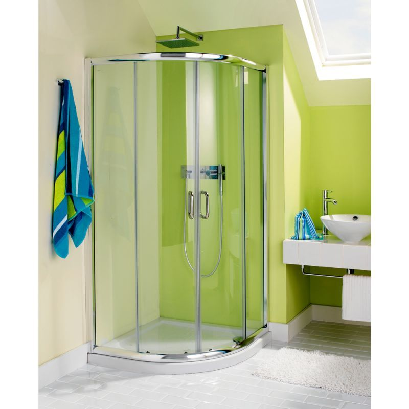 Space saving shower enclosure