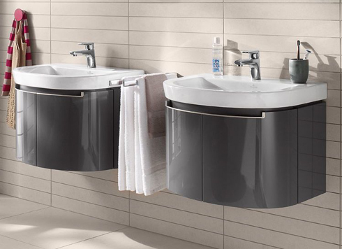 Wonderful Fiora Fussion Curved Designer Bathroom Furniture Collection 800mm