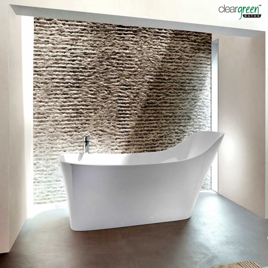 Clearwater Nebbia Natural Stone Ergonomic Bath