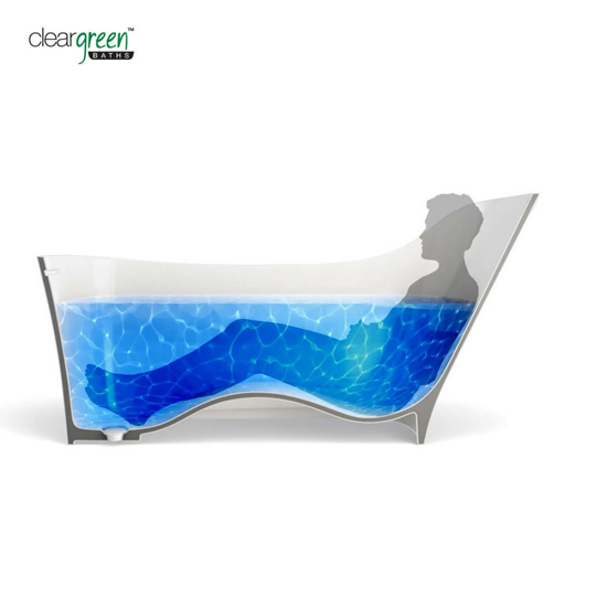 Clearwater Nebbia Natural Stone Ergonomic Bath2