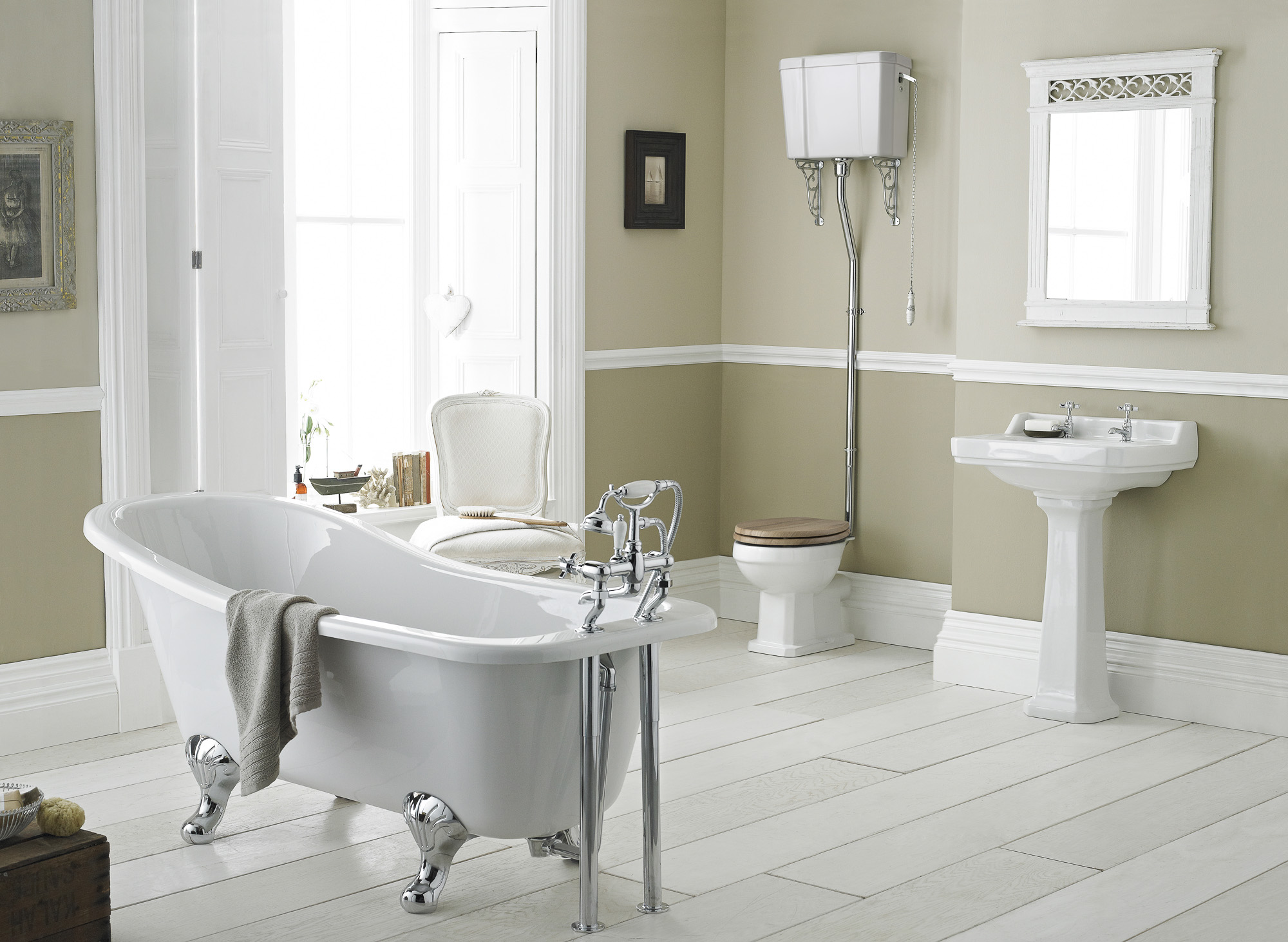 Add a classic look to your bathroom with the new for Bathroom ideas edwardian