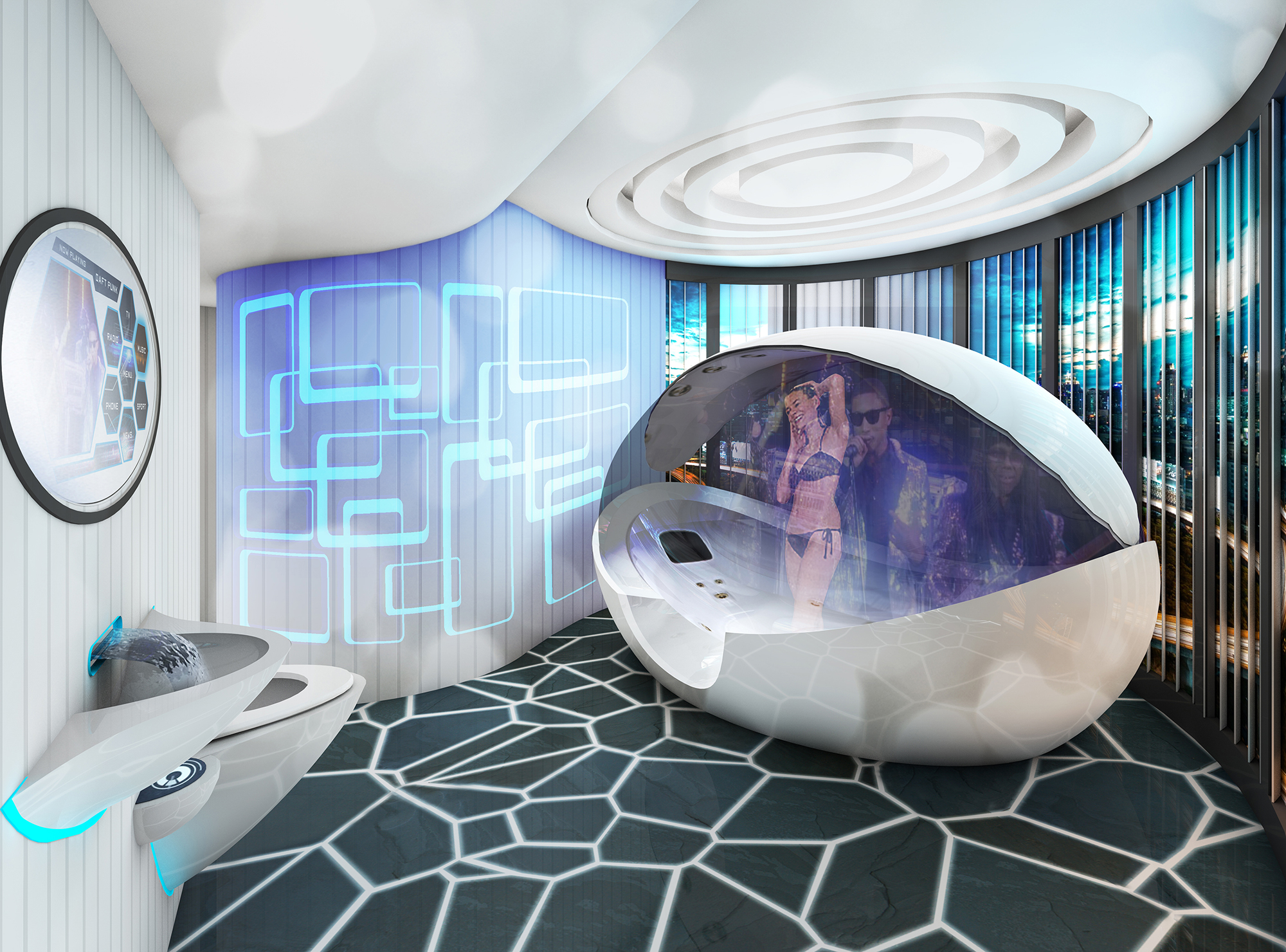 The ultimate bathroom of the future uk bathrooms - Bathtub small space concept ...