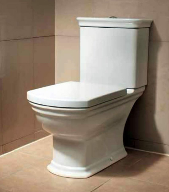 Vitra Serenada Closed Coupled WC Suite with Soft Close Seat