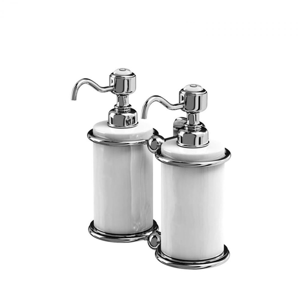 Burlington Traditional Double Liquid Soap Dispenser