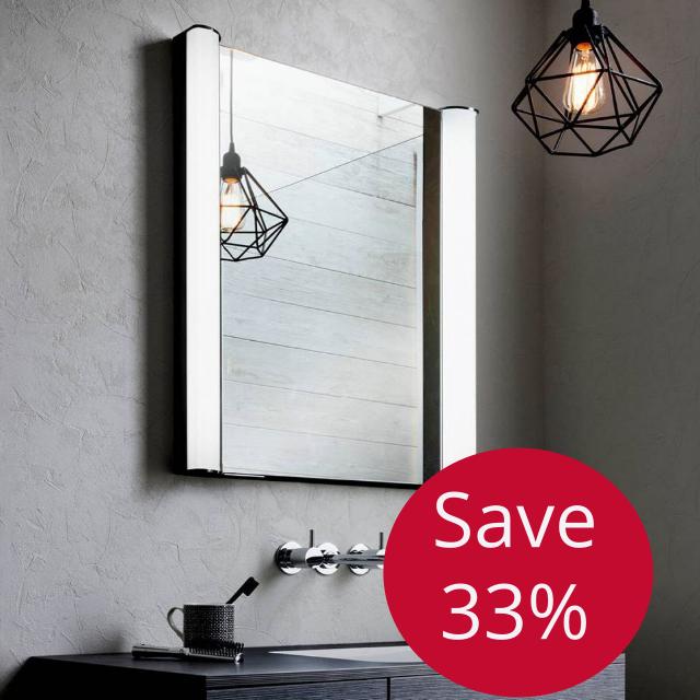 Bauhaus Duo Illuminated Mirrored Cabinet