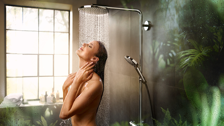 hansgrohe PowderRain: a new showering sensation