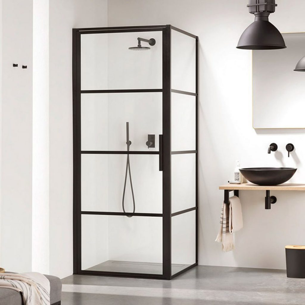 Impey Soho Pivot Door Black Shower Enclosure