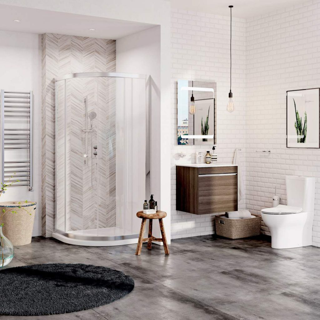 Crosswater essentials family bathroom package