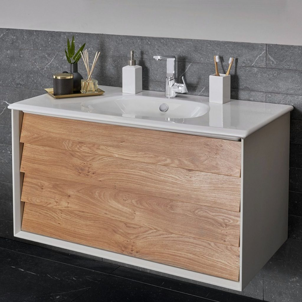 VitrA Frame 2 Drawer 100cm Vanity with Basin