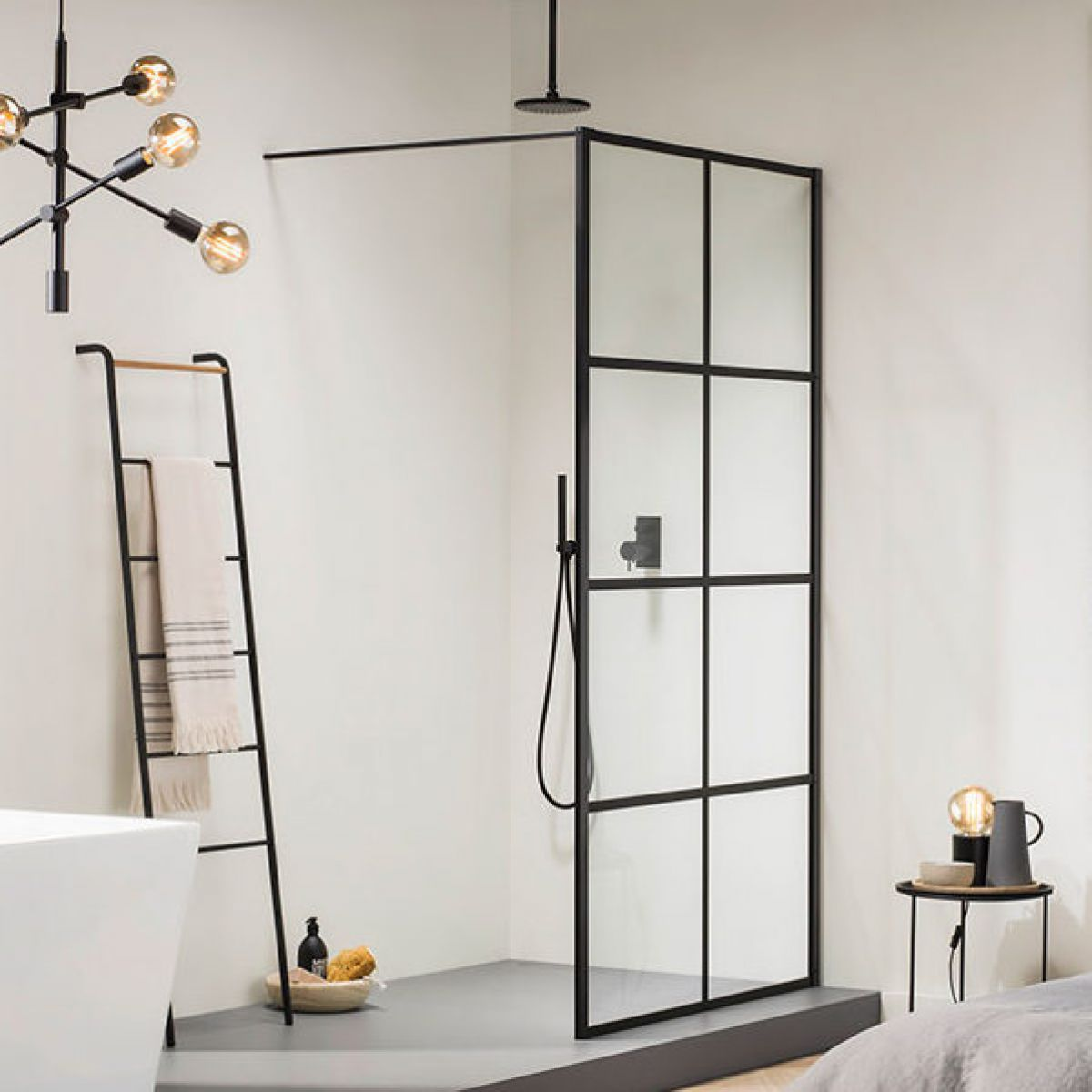 black screen idea for shower room