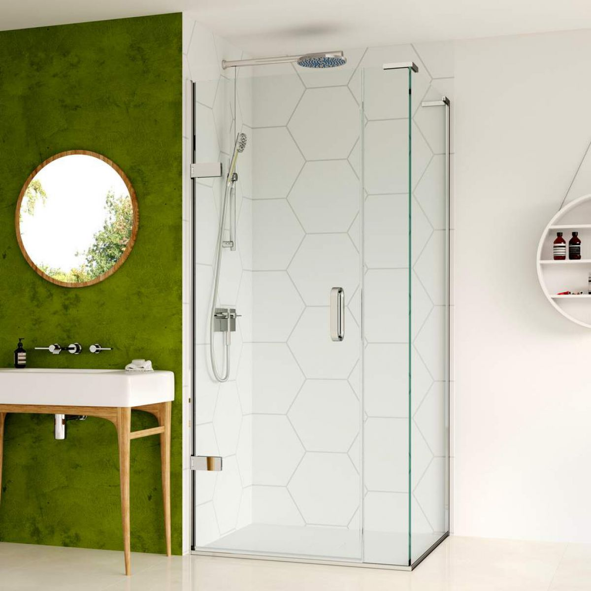 feature wall shower room idea