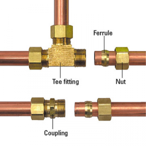 Tap compression fitting
